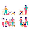 pet care set flat isolated vector image vector image