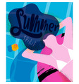poster summer spirit vector image vector image