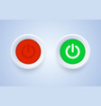 power off and power on button in 3d style vector image