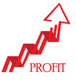Profit business vector image