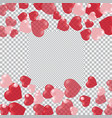 red and pink hearts translucent located on the vector image vector image