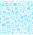 seamless pattern different web icons vector image vector image