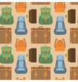 seamless pattern in flat style - travel vector image vector image
