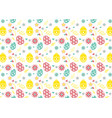 seamless pattern on colorful easter egg background vector image vector image