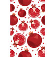 seamless pattern pomegranate fruits and seeds on vector image
