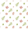 seamless pattern with hand drawn pastel fern dog vector image