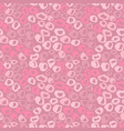 seamless pink grunge round elements pattern dry vector image vector image