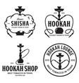 set of hookah labels badges and design elements vector image vector image