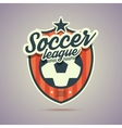 soccer league badge vector image vector image