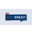 Soft Brexit banner template isolated vector image vector image