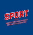 sports uniform style font alphabet letters vector image