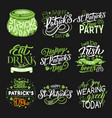 st patrick green symbol for irish holiday design vector image