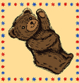 Standing bear pattern vector image