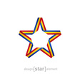 star with flag of Romania colors vector image vector image