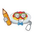 student spaghetti character cartoon style vector image vector image