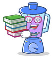 student with book blender character cartoon style vector image vector image