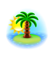 Sunny island icon isolated on white vector image