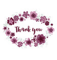 thank you editable floral wreath on white vector image vector image