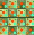 The pattern of colored circles on a grid vector image vector image
