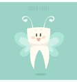 Tooth Fairy Healthy Teeth Flat Design vector image