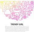 trendy girl line concept vector image vector image