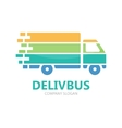truck logo design fast delivery symbol vector image