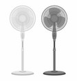 two electric fans black and white vector image vector image