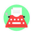 typewriter flat icon vector image vector image