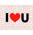 valentine I Love You Lettering with red vector image