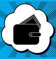 wallet sign black icon in vector image