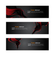 website header or banner web set abstract vector image vector image