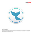 whale tail icon - white circle button vector image