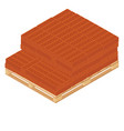 wooden pallet and bricks vector image vector image