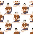 yoga positions mans characters class meditation vector image