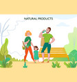 zero waste family vector image