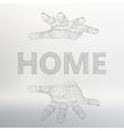 The inscription - Home Molecular lattice vector image