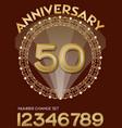 50th anniversary celebration in elegant golden vector image