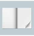 Magazine template with blank pages vector image