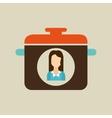 pot woman icon vector image