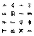16 passenger icons vector image vector image