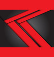 abstract red arrow speed direction on dark grey vector image vector image