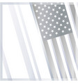 american flag decorative banner poster frame vector image vector image