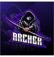 archer sport mascot logo design vector image vector image