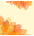 Autumn leaf background with space for text vector image