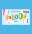 balloon font banner website vector image
