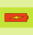 battery charging icon charge level in flat design vector image