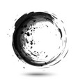 black circle splash brush watercolor vector image