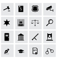 black justice icon set vector image