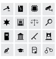 black justice icon set vector image