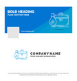 blue business logo template for briefcase vector image